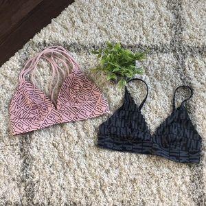 Set of 2 PINK Bralettes